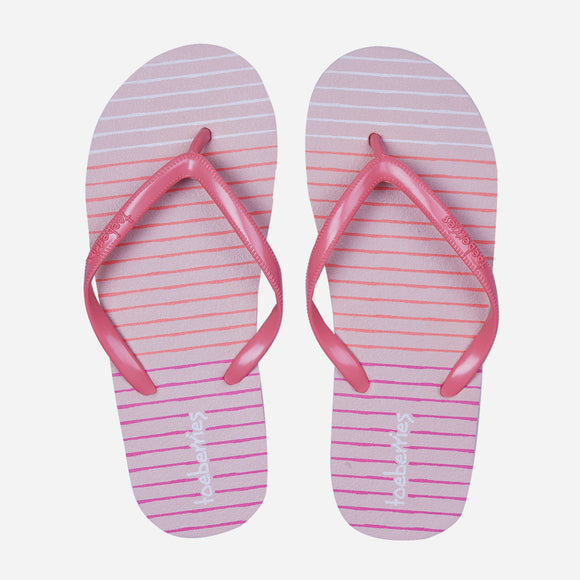 Toeberries Women's Kochi Striped Rubber Slippers