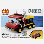 Cogo 3036 7 Police 116Pcs Building Blocks Toy For Kids