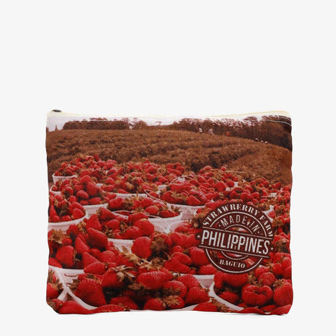 Kultura Strawberry Farm Canvas Pouch