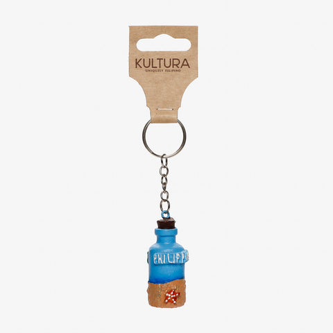 Kultura Blue Beach Bottle Keychain