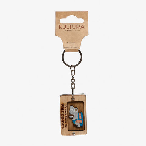 Kultura It's More Fun Jeepney Keychain