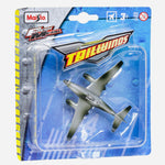 Maisto Fresh Metal Tailwinds (Gray With Green) Plane Toy For Boys