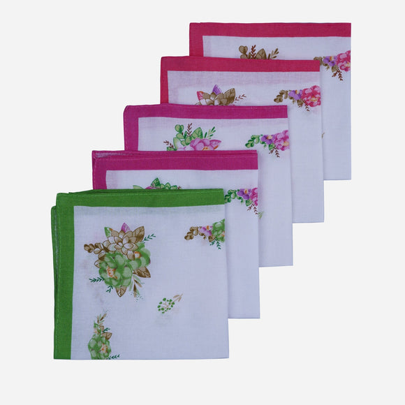 SM Accessories Kids' Hanky Printed 5 Pcs