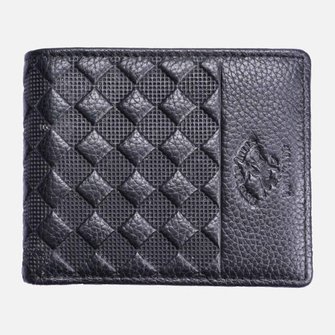 BHPC Men's Billfold Wallet Leather Black