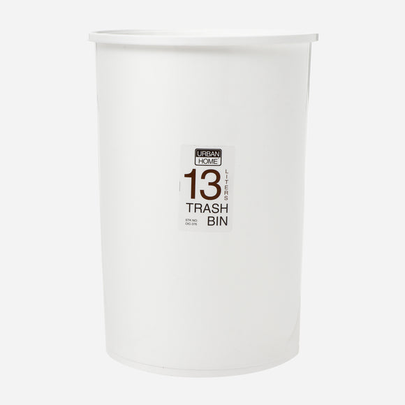 Urban Home Trash Bin without Cover 13L - White