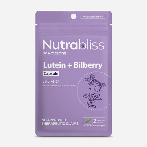 Nutrabliss By Watsons 60-Pack Lutein + Bilberry Capsule 266Mg