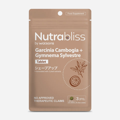 Nutrabliss By Watsons 90-Pack Garcinia Cambogia + Gymnema Sylvestre Food Supplements 350Mg