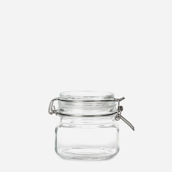 Hosh Glass Jar with Lid and Clip 500ml