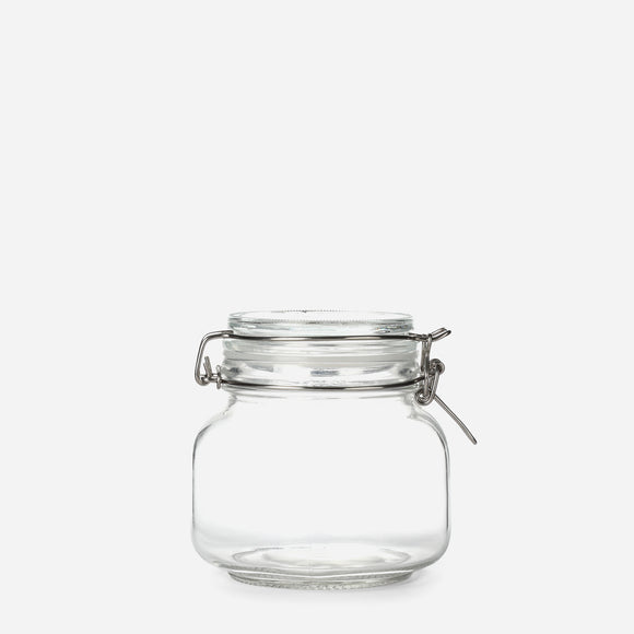 Hosh Glass Jar with Lid and Clip 750ml
