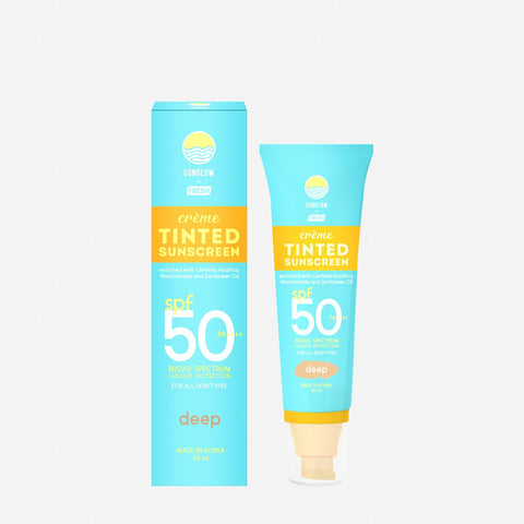 Sunglow By Fresh Tinted Sunscreen Spf50 Pa++++ - Deep