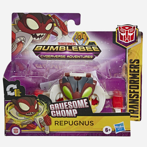 Transformers Bumbleebee Cyberverse Adventures: Gruesome Chomp Repugnus Action Figure For Boys