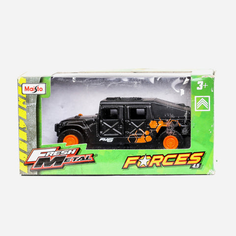 Maisto Fresh Metal Forces (Black With Orange) Vehicle Toy For Boys