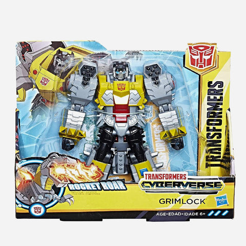 Transformers Cyberverse Grimlock Rocket Roar Action Figure