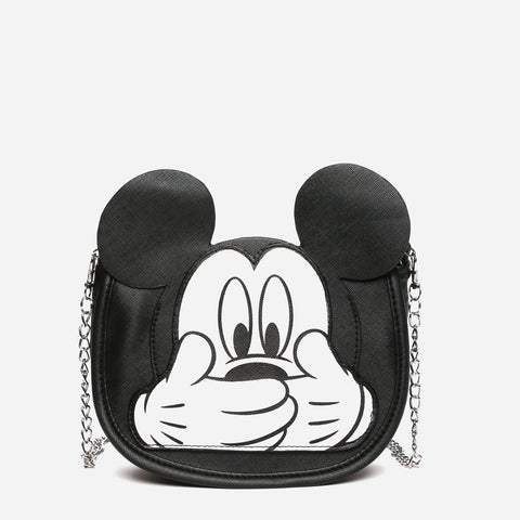 Mickey Mouse Mini Cut-out Sling Bag Black