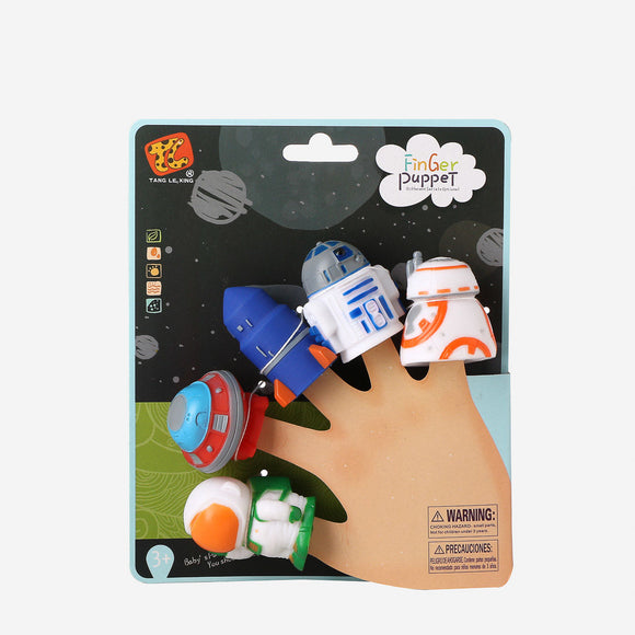 Baby Company 5Pc Finger Puppets Space Figures