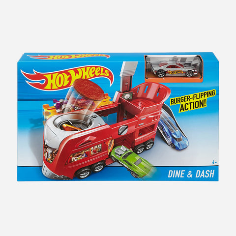 Hot Wheels City Fold Out Dine & Dash Playset Toy For Boys