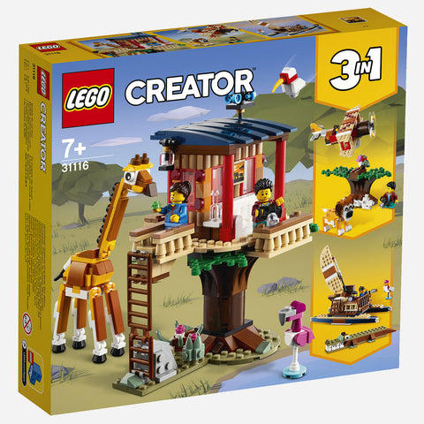 Lego R Creator 31116 Safari Wildlife Tree House Age 7 Building Blocks 2021 397Pcs