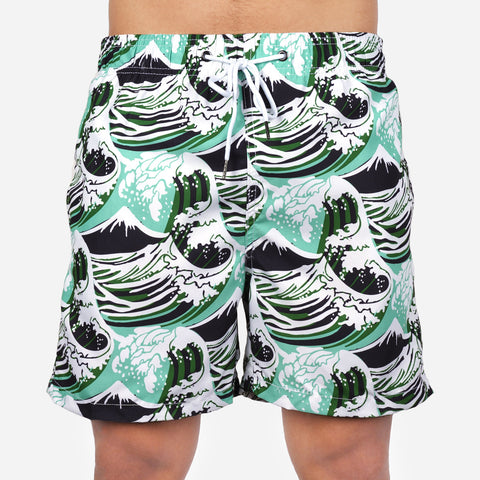 Smartbuy Men's Boardshorts in Waves Print
