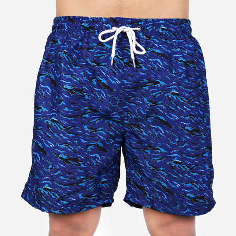 Smartbuy Men's Boardshorts Printed in Blue