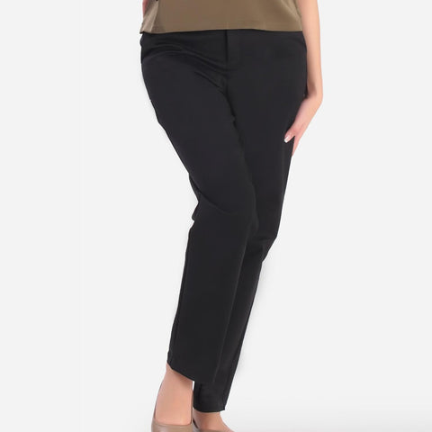 SM Woman Slim Fit Pants with Fake Pockets