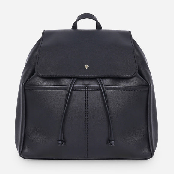 Parisian Dahlia Backpack in Black