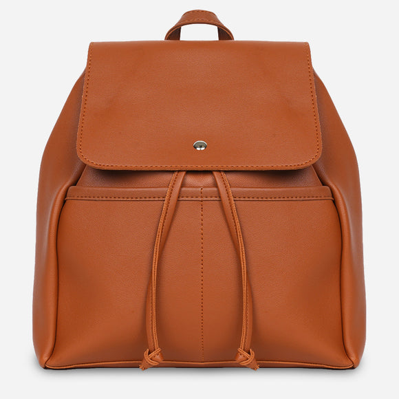 Parisian Dahlia Backpack in Tan