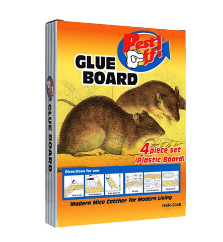 Pest Off Mice Catcher 4-PC Glue Board