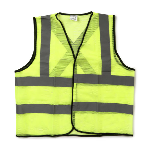 Super Tuff Reflective High Visibility Safety Vest in Neon Green
