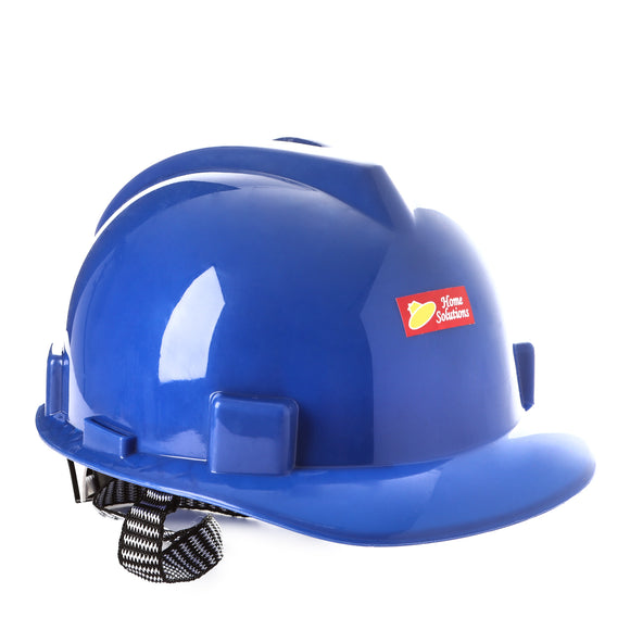 Home Solution Hard Hat Helmet with Strap in Blue