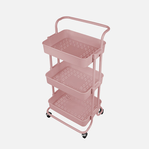 Stationery Organizer Trolley Pink