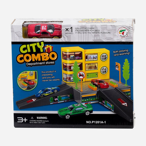 City Combo Department Stores Vehicle Playset For Kids