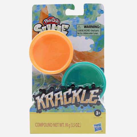 Playdoh Krackle Slime Orange And Green Toys For Kids
