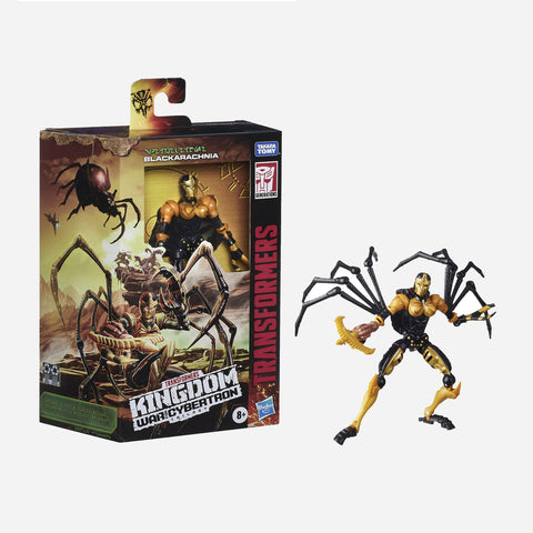 Transformers Kingdom War For Cybertron Trilogy:Deluxe Class Blackarachnia Toy For Boys