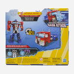 Transformers Cyberverse Bash Attack Optimus Prime 7.5 Inch Action Figure Toys For Kids