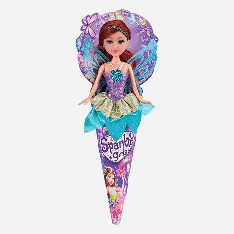 Sparkle Girlz Doll Fairy Princess In A Cone (Green And Blue) Toy For Girls