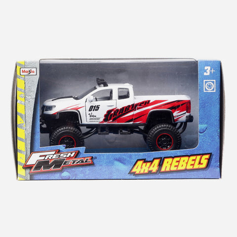 Maisto Fresh Metal 4X4 Rebels White Grabtech Vehicle Toy For Boys