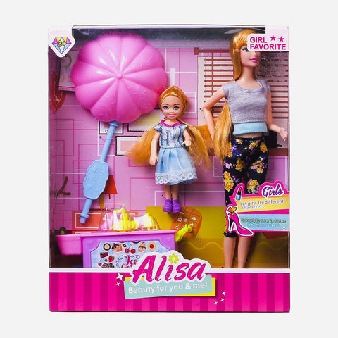 Alisa Beauty For You And Me Doll With Ice Cream Cart Toy For Girls