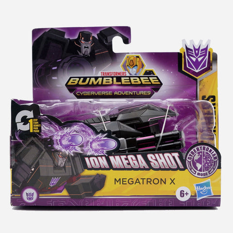 Transformers Cyberverse 1 Step Ion Mega Shot Megatron-X Toy For Boys