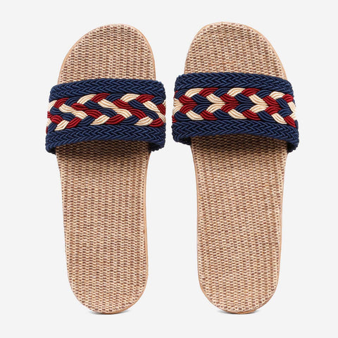 Tropiko Slides With Metallic Braided Strap