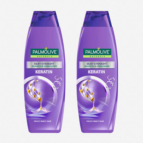 Palmolive Naturals 2-Pack Silky Straight With Keratin Shampoo 180Ml