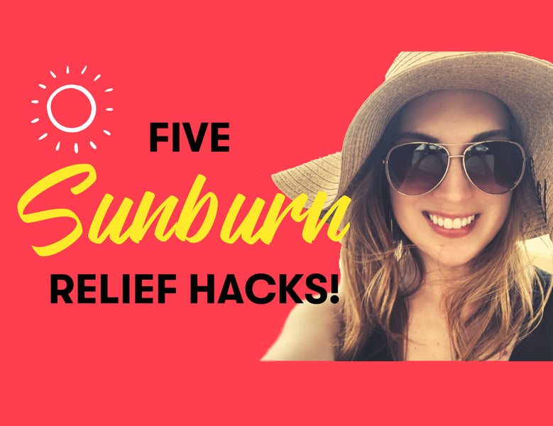 5 sunburn relief hacks to soothe your red, inflamed skin.