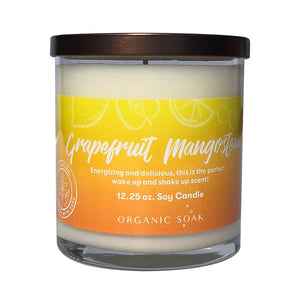 Grapefruit and Mangosteen Scented Soy Candle