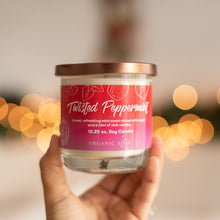 Load image into Gallery viewer, Twisted Peppermint Scented Soy Candle