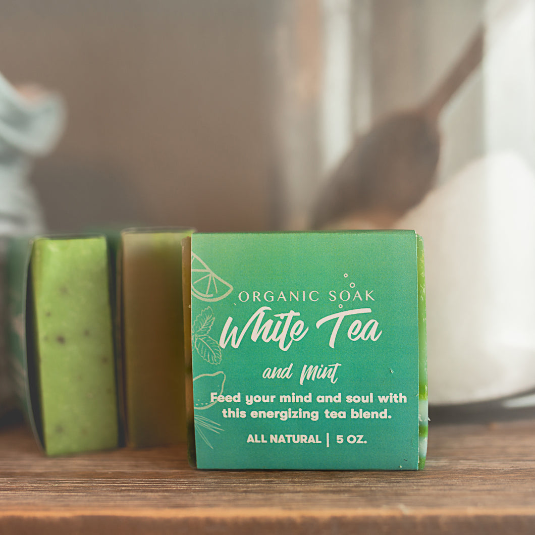 White Tea and Mint All Natural Bar Soap