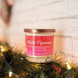 Twisted Peppermint Scented Soy Candle