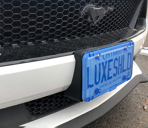 Beautiful Blue License Plate Cover