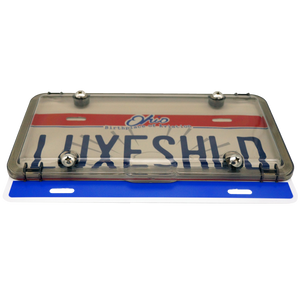 Sleek Smoked License Plate Cover