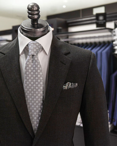 Image of Coppley suit on a mannequin