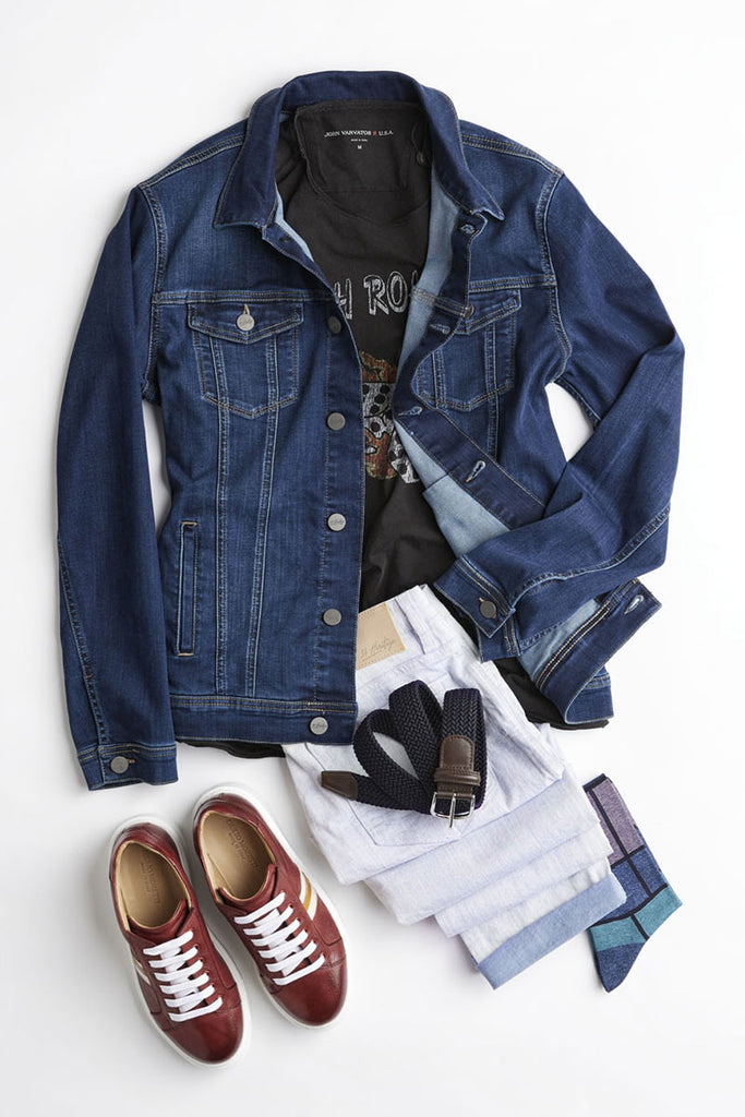 Picture of outfit laid down on the floor called Casual Fridays