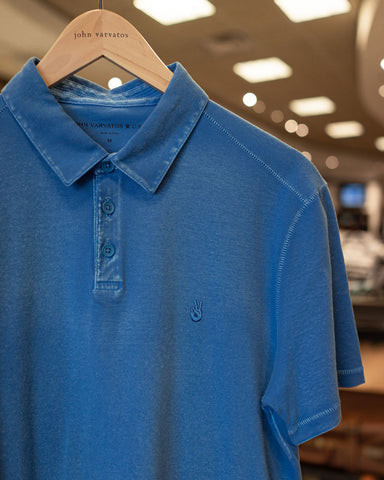 Image of blue polo shirt